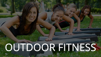 Find and outdoor fitness class